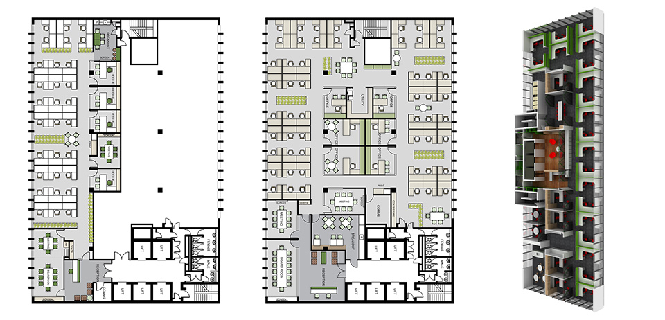 Architectural drawings and office plans free for Office design dwg